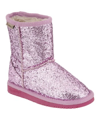 Pink Glitter Cheri Boot - Toddler