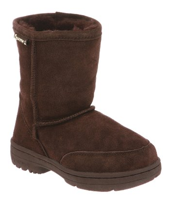 Chocolate Suede Meadow Boot - Toddler