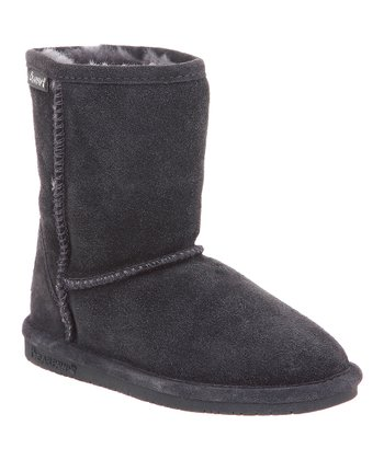 Charcoal Suede Emma Boot - Toddler