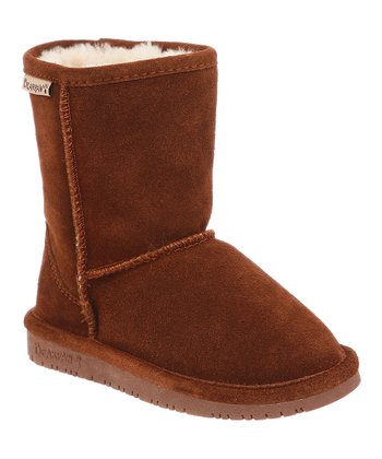 Hickory & Champagne Suede Emma Boot - Toddler