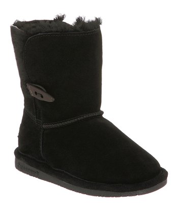 Black Suede Abigail Boot - Kids