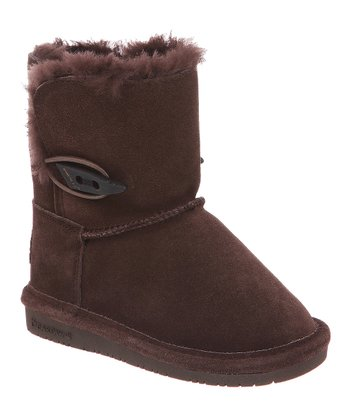 Chocolate Suede Abigail Boot - Kids