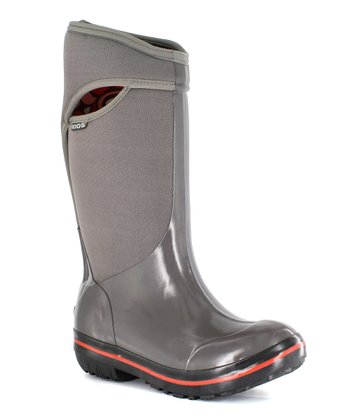 Grey Plimsoll Solid Tall Boot