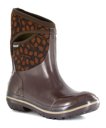 Chocolate Plimsoll Mid Leaf Boot