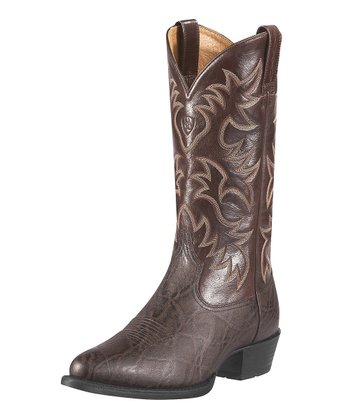 Chocolate Heritage Western R-Toe Boot - Men