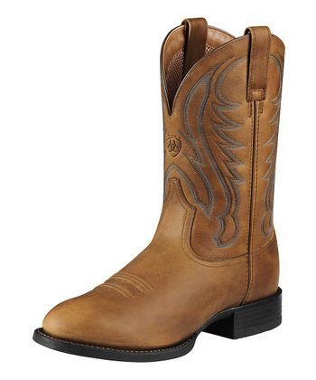 Arena Brown Sport Round Toe Boot - Men