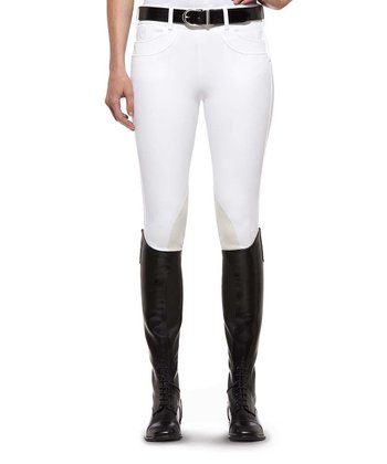White Olympia Low-Rise Riding Pants - Women