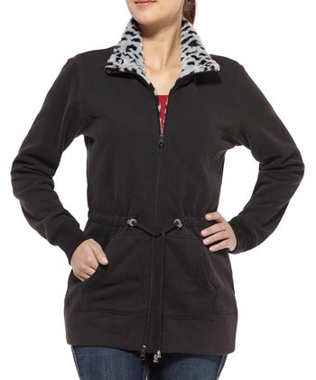 Black Redey Fleece Jacket - Women