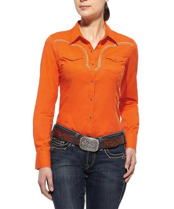 Tangerine Shelley Button-Up - Women