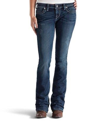 Night Sky Ruby Chain Link Boot Cut Jeans - Women