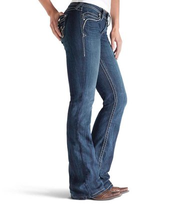 Turquoise Whipstitch A Midnight Galaxy Boot Cut Jeans - Women