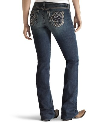 Turquoise Halo Cross Boot Cut Jeans - Women