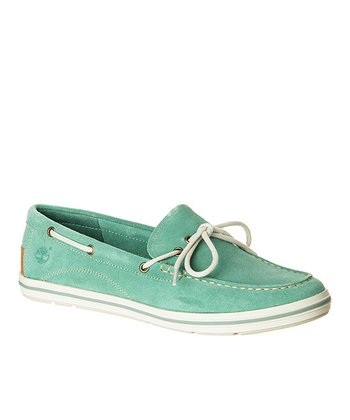 Green Suede Casco Bay Boat Shoe