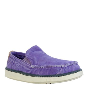 Purple Hookset Organic Canvas Slip-On Shoe
