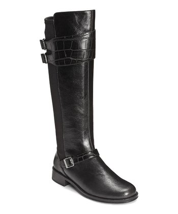 Black Bridel Suite Wide Calf Boot