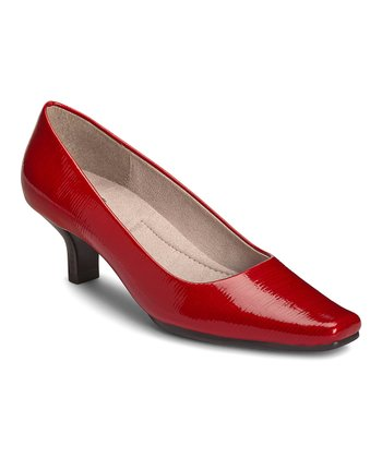 Red Patent Dimperial Pump