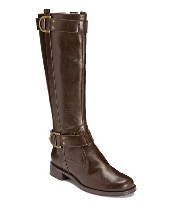Brown Trident Wide Calf Boot