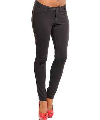 Brown Skinny Pants - Women