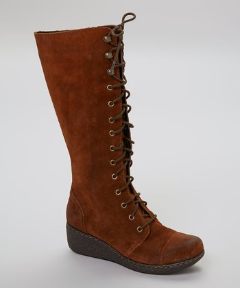 Brown Suede Sheree Boot
