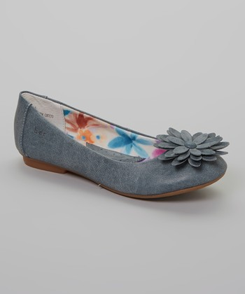 Denim Blue Yarina Flat