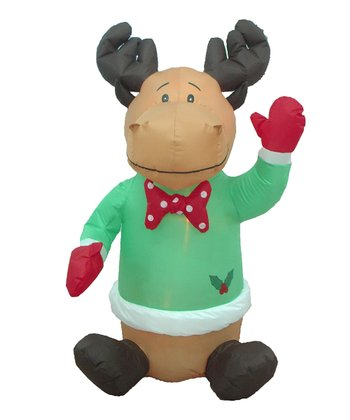 BZB Goods Reindeer Inflatable Light-Up Lawn Decoration