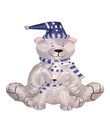 Polar Bears Inflatable Light-Up Lawn Decoration