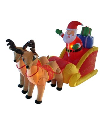 Santa's Sleigh Inflatable Yard Decoration