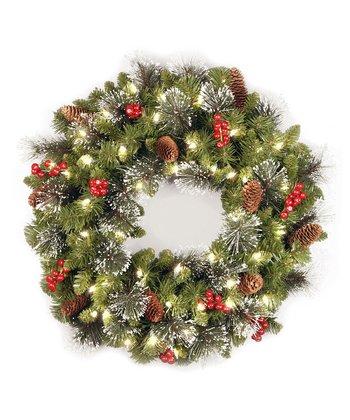Crestwood Spruce Lighted Wreath