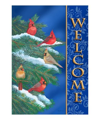 Cardinal Welcome Flag
