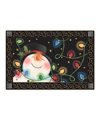 Snowman & Lights MatMate Doormat