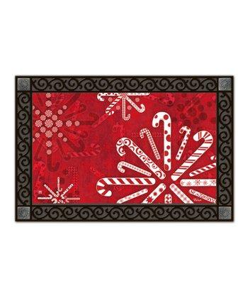 Peppermint Snowflake MatMate Doormat
