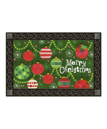'Merry Christmas' Ornament MatMate Doormat