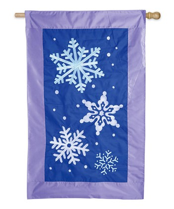 Snowflake Flurries Light Up Flag