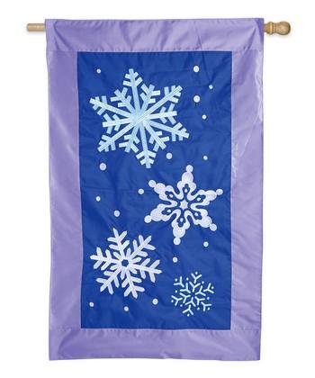Snowflake Flurries Light Up Flag