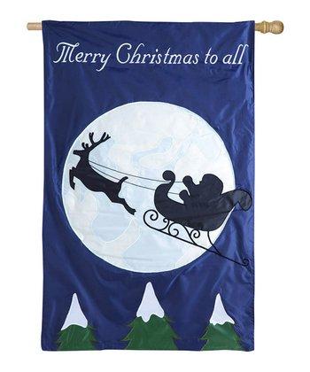 Santa's Sleigh Ride Light Up Flag
