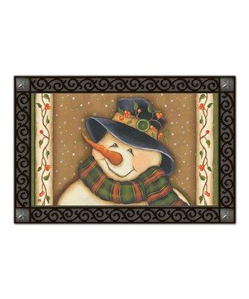 Snowman Button Bernie MatMate Doormat