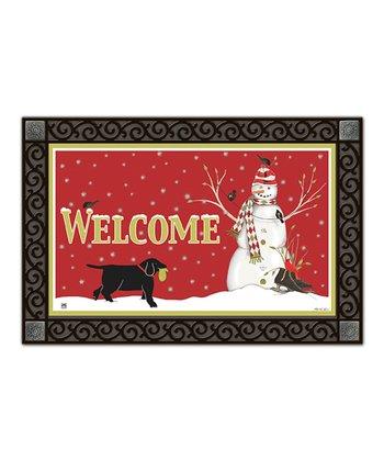 Argyle Snowman MatMate Doormat