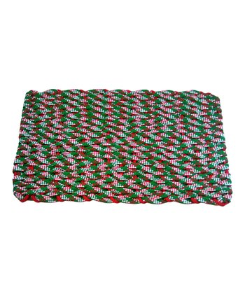 Checkered Chrstmas Rope Mat