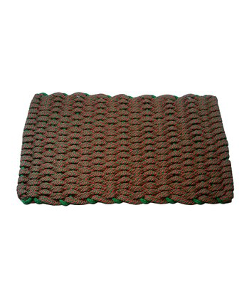 Green & Red Candy Cane Rope Mat