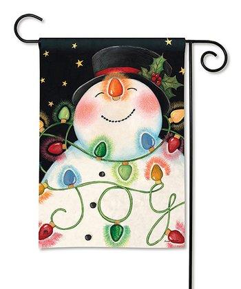 Snowman & Lights Flag