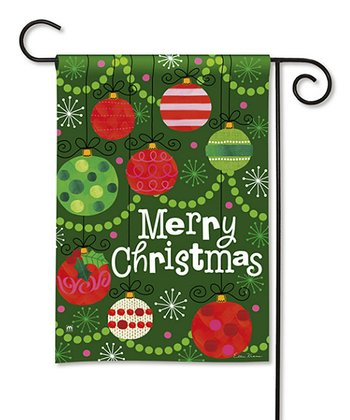 'Merry Christmas' Ornament Flag