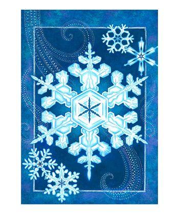 Elegant Snowflake Garden Flag