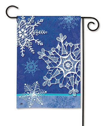 Winter Crystals Garden Flag