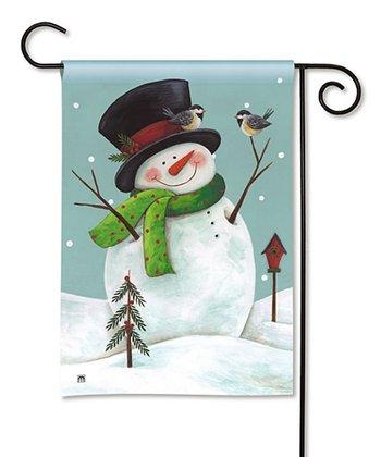 Woodland Snowman Flag