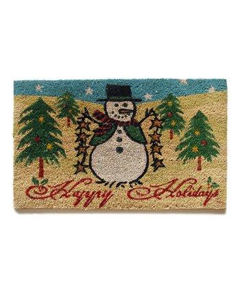 'Happy Holidays' Snowman Doormat