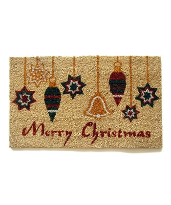 'Merry Christmas' Ornaments Doormat