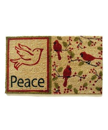 'Peace' Dove Doormat