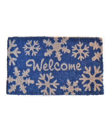 'Welcome' Snow Flakes Doormat