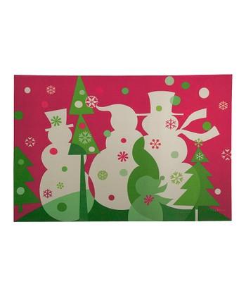 Candy Snowmen Comfort Cushion Indoor Mat