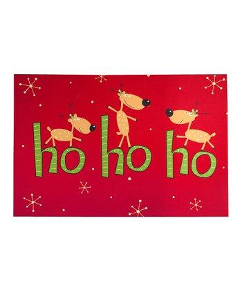 'Ho Ho Ho' Reindeer Comfort Cushion Indoor Mat